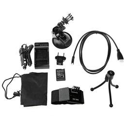 Orijinal GoPro Hero 3 için Dazzne KT-109 Eylem Kamera Aksesuar Kiti / Araç Şarj Güç Adaptörü Pil Bilek Şerit Tripod Vantuz Brack
