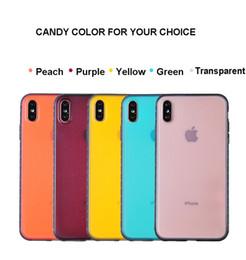 Marco lateral semitransparente TPU opaco semisransparente del color del caramelo con carcasa de la PC para el iPhone X funda de teléfono antideslizante en venta