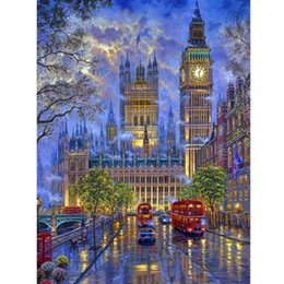 london home decor UK - 5D DIY Diamond Painting London Street Scenery Full Drill Diamond Embroidery Cross Stitch Mosaic Rhinestone Home Decor Gifts
