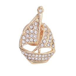sailing accessories UK - Fashion Popular Gold Japanese And Korean Sailing Brooch Clothing Brooch Jewelry Accessories Good-Looking Style Two Color Choice