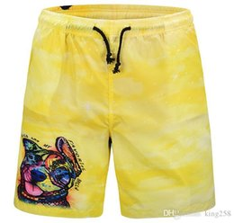 9d4f2a9fee 2018 Summer Men's New European Size Shorts Creative Cartoon Printing 3D Loose  Beach Pants Causal Swim Shorts