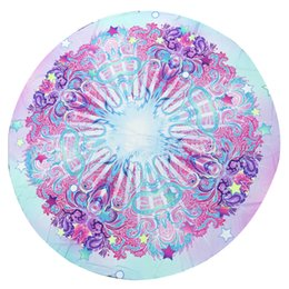 Beach Mats Wholesale Australia - Round Beach Towel 150cm Print Polyester Bath Sand Beach Round Towel Yoga Mat Shawl 3 #