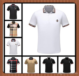Cheap T Shirt Designer NZ - CHEAP new Luxury designer casual men polo t shirt snake bee floral embroidery mens polos High street fashion polo shirts men