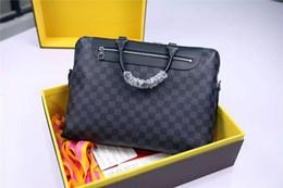 $enCountryForm.capitalKeyWord Canada - Porte Briefcase N48260 Damier Cobalt Canvas Men Top Oxidized Real Leather Iconic Shoulder Totes Business Bags