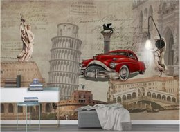 European Classic Cars Australia - 3d room wallpaper custom photo mural European nostalgic landmark building classic car English background wall paper wallpaper for walls 3 d