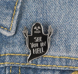 $enCountryForm.capitalKeyWord Australia - Punk Ghost Lapel Enamel Pin See You In Hell black skull Brooch Vertical middle finger Badge Empty eyes Jewelry Gaze from the abyss zdl120090