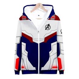 Zipper 3d Australia - Hot Sale Men 3D Print Avengers 4 Zipper Hoodie Sweatshirt Women Men Casual Long Sleeve Hip Hop Hoodies Soft Hoodie Coat