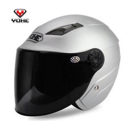 Yohe Helmet Half Face Australia - YOHE Motorcycle helmet summer sun ultraviolet ray electric safety helmet, 837 men and women
