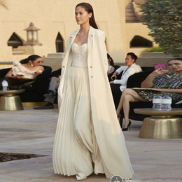 $enCountryForm.capitalKeyWord Australia - New Design Jumpsuits 2019 Prom Dresses With Cape Sweetheart Evening Gowns Chiffon Plus Size Princess Party Gown
