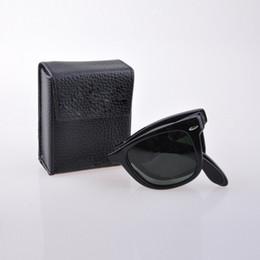 d964e353c29b Make glasses case online shopping - designer sunglasses folding men women  sunglasses UV400 glass made lenses