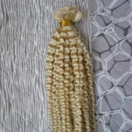 7a kinky curly ombre weave 2019 - blonde brazilian hair weave bundles 100G 1PCS grade 7a unprocessed virgin brazilian hair Curly weave Kinky Curly virgin
