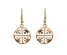$enCountryForm.capitalKeyWord Australia - 2019 Chinese style gold round earrings