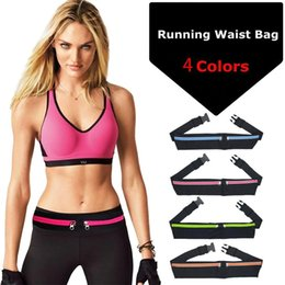 running cycling sport waist pack Australia - Dual Pocket Running Belt Phone Pouch Waist Bag Sports Travel Fanny Pack for Jogging Cycling Outdoor