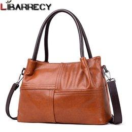 Big Ladies Handbags Australia - Women Top-handle Bag Luxury Handbags Women Bags Designer Vintage Soft Leather Shoulder Bag Ladies Casual Big Tote Bolsa Feminina