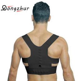 posture support brace women 2019 - S-XL Adjustable Back Therapy Posture Corrector Brace Shoulder Back Support For Men Women Adult Braces Magnet Supports di