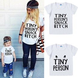 mother daughter matching top Canada - Hot Sale Fashion Family Matching Outfits Mother and Daughter Boys Casual T-shirt Tops Clothes Family Matching Parent-child Top