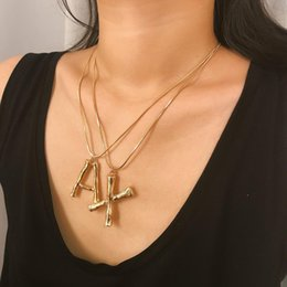 fashion initials pendant Australia - 26 English Initial Necklace Silver Gold Lava Surface English Letter Necklace Pendants Fashion Jewelry Will and Sandy Drop Ship