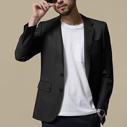 $enCountryForm.capitalKeyWord Australia - New Black Summer Beach Men Blazer Handsome Casual Young Boys Two Button Groom Wear For Wedding Beach Leisure Men Suit Only One Jacket