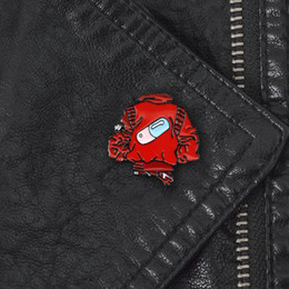 Wholesale pill red for sale - Group buy Creative Red Jackets Brooch Club Pill Capsule Badge Denim Backpack Lapel Badge Enamel brooches Pins Friends Member Fan Personality Gifts