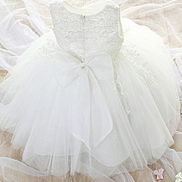 $enCountryForm.capitalKeyWord Australia - Newborn Baby Girl Dress Party Dresses For Girls 1 Year Birthday Princess Dress Lace Christening Gown Baby Clothing White Baptism MX190719