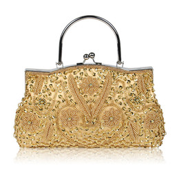 $enCountryForm.capitalKeyWord UK - Woman bag desinger for wed banquet party dress sliver gold black evening bags tote handbag shoulder lady Clutch bag with beading free ship