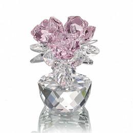 $enCountryForm.capitalKeyWord UK - H&d Quartz Crystal Three Roses Craft Bouquet Flowers Figurines Ornament Home Wedding Party Decor Souvenir Lover's Gifts(pink) J190713