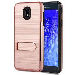 $enCountryForm.capitalKeyWord NZ - For Galaxy J7 Refine J3 2018 Achieve Star Alcatel ONYX Revvl 2 7 Nokia 3.1 Plus Metal Brushed Holder Case With Card Slot