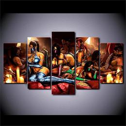 $enCountryForm.capitalKeyWord Australia - Mortal Kombat Series,5 Pieces The Latest Most Popular High-definition Canvas Printed Home Decorative Art  Unframed   Framed