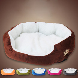 Mini Housing Australia - 1Pcs 50*40cm Super Cute Soft Cat Bed Winter House for Cat Warm Cotton Dog Pet Products Mini Puppy Pet Dog Bed Soft Comfortable