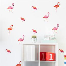 Bird Wall Stickers Australia - 6sheet=24pcs DIY Art Vinyl Design Home Decor Mini Bird Flamingo Wall Stickers For Kids Rooms