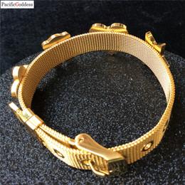 $enCountryForm.capitalKeyWord Australia - Bracelet trendy Stainless Steel cool heart star flower gold Rope Braided Bracelets For Women men Jewelry as best gift