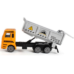 China Children Traffic Toy Diecast Mini Alloy Construction Vehicle Engineering Car Dump-car Dump Truck Model Classic Toys 1 cheap truck bus toys suppliers