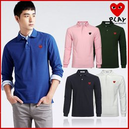 $enCountryForm.capitalKeyWord Australia - New fashion 2018 men's and women's t-shirts, PLAY precision embroidery logo long-sleeve men's POLO, free shipping