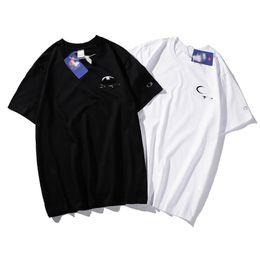 Hot Cotton Brand T Shirts Australia - Champions Tshirts Fashion Brand mens Tshirt trend classic designer t shirt quality cotton letter embroidery sweatshirt hot tee shirts tops