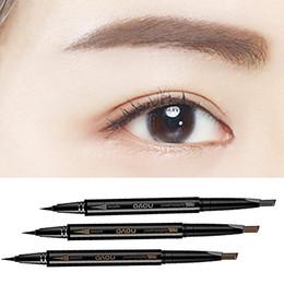 Double Head Waterproof Long lasting Eyebrow Eye Brow Pencil Automatic Eyeliner Pen Drawing Makeup Beauty Tool