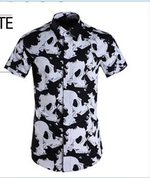 Collar Bone Shirt Australia - Free Shipping 2019 New Arrival Fashion Spring Summer Personality White Bone Style CLothes Popular Slim Mens Short-sleeved Shirt Hot Sale