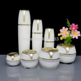 Acrylic Eye Cream Jar Australia - 7pcs 10 15 30 50g White Acrylic Eye Face Cream Jar 30 50 100ml Empty Cosmetic Lotion Containers DIY Sprayer Atomize Bottles