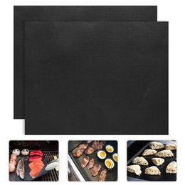 cooking pan wholesalers Australia - 2pcs lot 0.2mm Thick Ptfe Barbecue Mat 33*40cm Non-stick Reusable Mats Sheet Grill Foil Bbq Liner C19041501