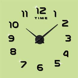 Digital clock numbers online shopping - Diy Acrylic Number White Black Wall Clock Digital Bedroom Living Room Simple Decorate Self Adhesive Wall Clocks mtD1