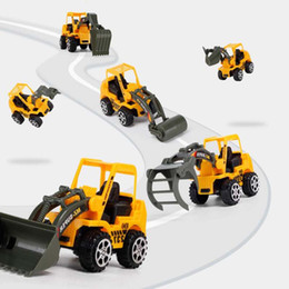 Toy consTrucTion car online shopping - 6 Children s Traffic Construction vehicle toy bulldozer earth moving machine dump truck roller Car for Boy s kid to