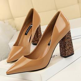 $enCountryForm.capitalKeyWord NZ - sexy shoes patent leather thick heels women pumps nude heels office shoes women italian shoes women designers brand heels zapatos de mujer