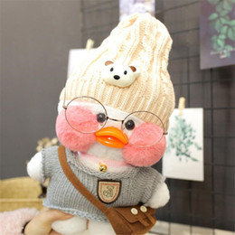 Cafe Cloth Australia - 2019 new 30cm White LaLafanfan Cafe Duck Plush Toy Cartoon Cute Duck Stuffed Doll Soft Animal Dolls Kids Toys Birthday Gift for Children