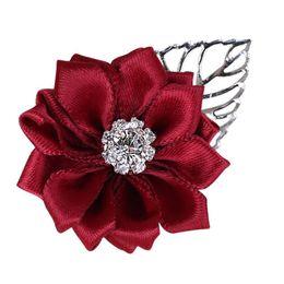 $enCountryForm.capitalKeyWord UK - New Buriergundy Artificial Flower Crystal Boutonne Best Men CustWeddingomizable Groomsmen Bridesmaid Wedding Prom Corsage Silver leaf XH037