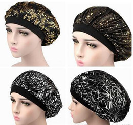$enCountryForm.capitalKeyWord Australia - Muslim Women Wide Band Stretch Silk Satin Bonnet Hot Floral Print Bandana Sleeping Turban Hat headwrap Bonnets chemo caps Hair Accessories