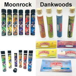 Sticker labelS roll online shopping - Empty Moonrock Pre Roll Joint Packaging Tubes DANKWOOD Glass Tube mm Dry Herb Herbal Sticker Pre roll Stickers Label