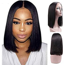 $enCountryForm.capitalKeyWord UK - Human Hair u Part Wig Short Bob Silky Straight Glueless Virgin Brazilian U Part Human Hair Wigs Bob Upart Wigs For Black Women