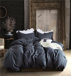 $enCountryForm.capitalKeyWord Australia - Ruffled Pure Color Fashion Duvet Cover Set King Queen Twin Size 3pcs set Simple Print Bedding Quilt Sheet 200*200