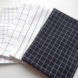 Square Kitchen Designs Australia - Reusable Kitchen Textile Napkin Ins Wind Simple Design Checks and Stripes Napkin Home Use Kitchen Towel 40x60 NP0804 DT0029
