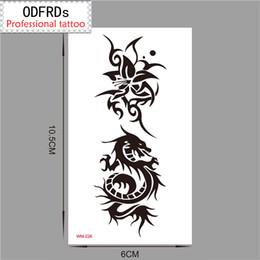 $enCountryForm.capitalKeyWord NZ - Temporary Tattoo Tatoo For man Woman Waterproof Stickers makeup maquiagem make up Dragon flower tattoo wm226