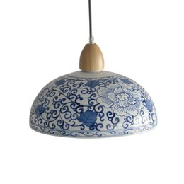 $enCountryForm.capitalKeyWord Australia - china pendant light blue and white porcelain suspension lamp restaurant hotel store shop office loft dinning room handmade ceramic lighting